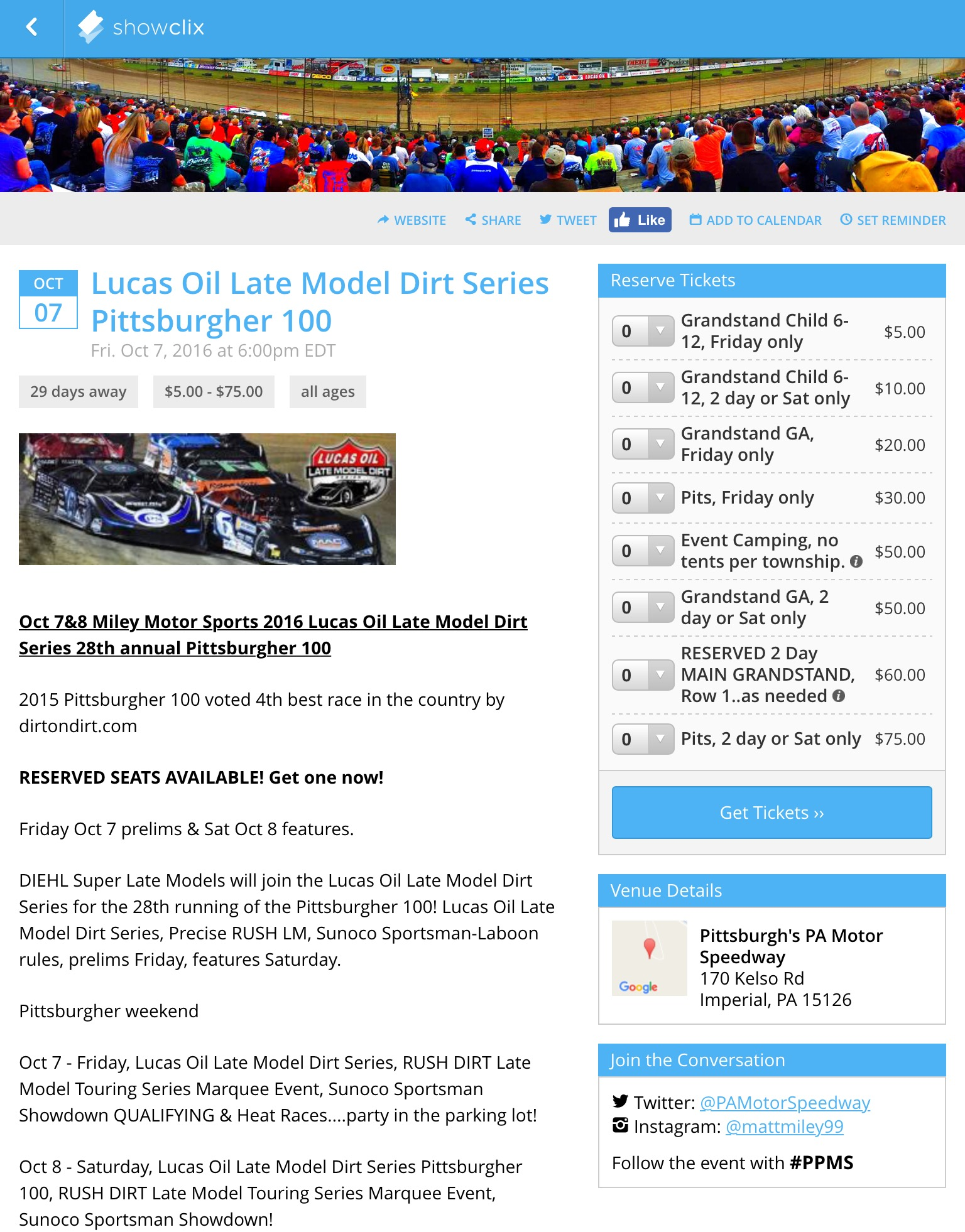 Prices Pittsburgher 100